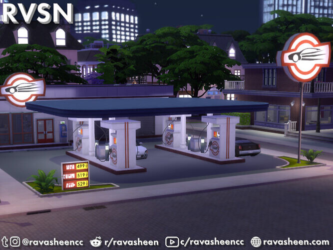 Highway Petrol Gas Station Set By Ravasheen