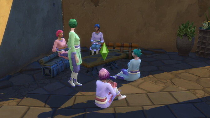 Sims 4 Colorful Clothes for the Journey to Batuu game pack by Sashiku at Mod The Sims