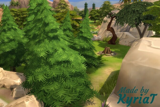 Sims 4 Stoneage Second Camp at KyriaT's Sims 4 World