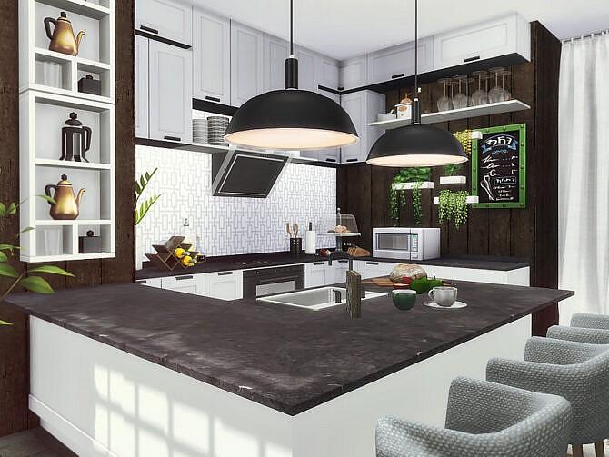 Sims 4 Dani Kitchen by Rirann at TSR