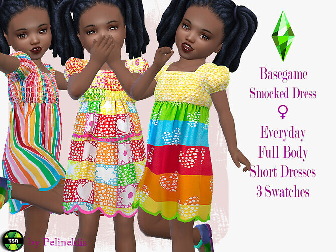 Toddler Colorful Smocked Dress by Pelineldis