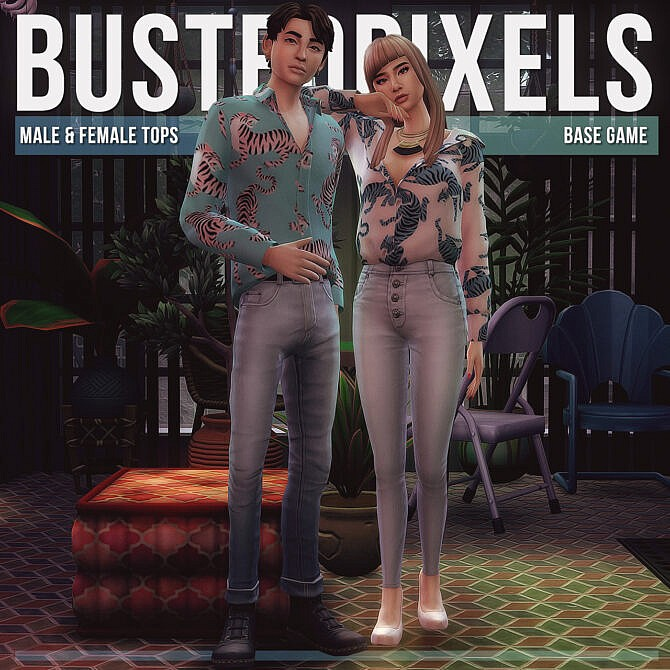 Sims 4 Male & Female Tops at Busted Pixels