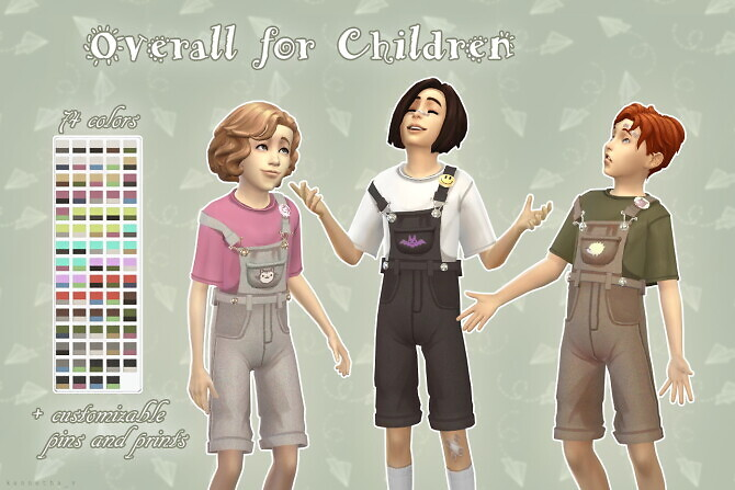 Sims 4 Overall for Children by kennetha v at Mod The Sims