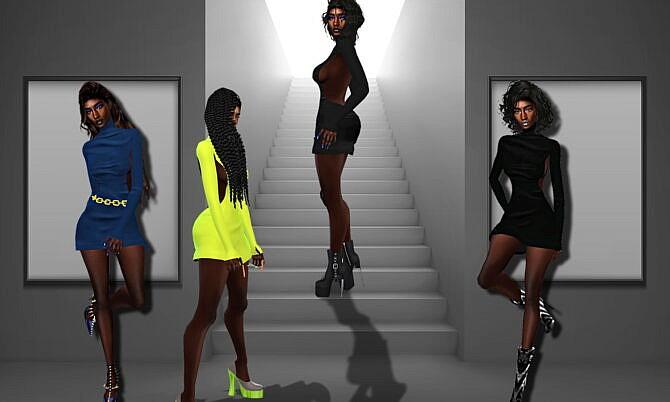 Sims 4 Zariyah Backless Mini Dress at Teenageeaglerunner