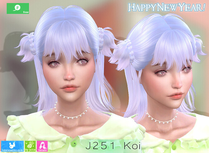 Sims 4 J251 Koi hair at Newsea Sims 4