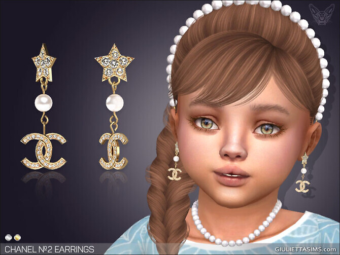 Sims 4 Earrings №2 For Toddlers at Giulietta