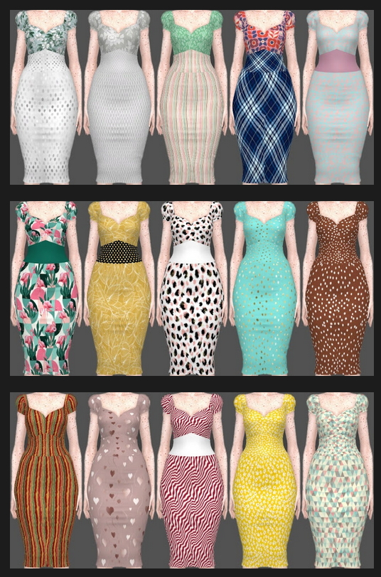 Sifix Dresses Recolors Part 3 at Annett's Sims 4 Welt image 2533 Sims 4 Updates
