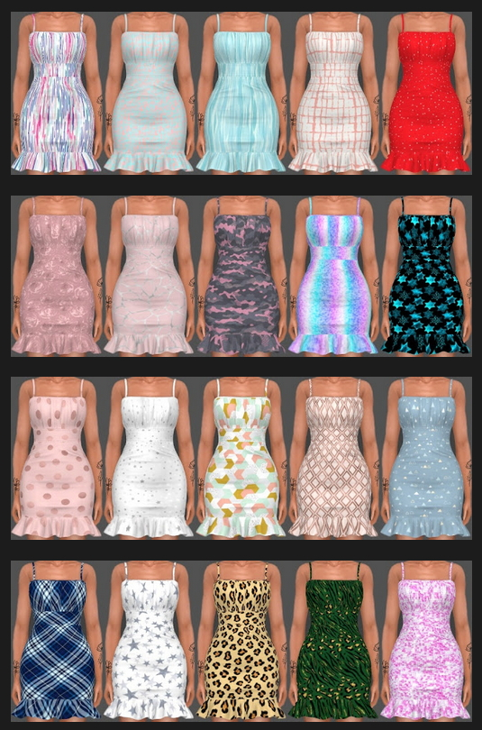 Sifix Dress Recolors Part 2 at Annett's Sims 4 Welt image 2562 Sims 4 Updates