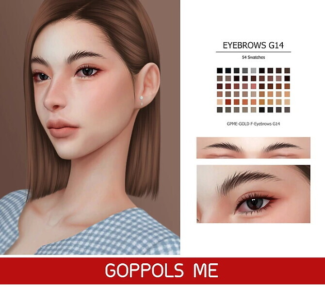 Sims 4 GPME GOLD F Eyebrows G14 at GOPPOLS Me