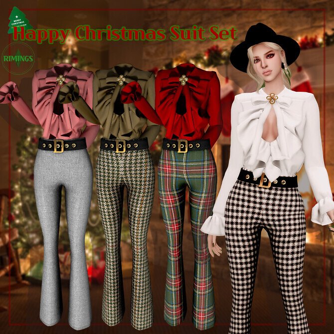 Sims 4 Happy Christmas Suit Set at RIMINGs