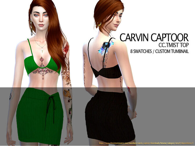 Sims 4 Tmist top by carvin captoor at TSR