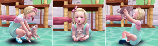 Sims 4 Toddler & Kitten Pose 2 at A luckyday
