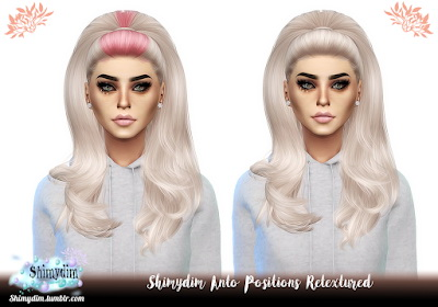 Sims 4 Anto Positions Hair Retexture at Shimydim Sims