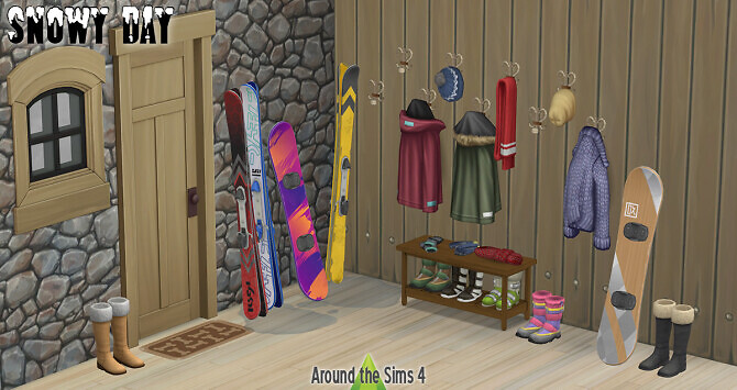Sims 4 Snowy Day clutter at Around the Sims 4
