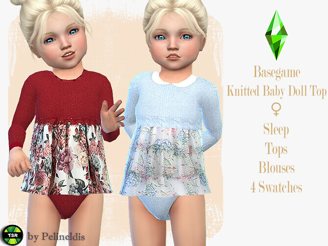 Toddler Knitted Babydoll Top by Pelineldis