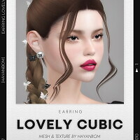 LOVELY CUBIC EARRINGS