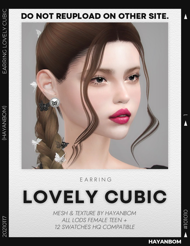 Sims 4 LOVELY CUBIC EARRINGS at Hayanbom