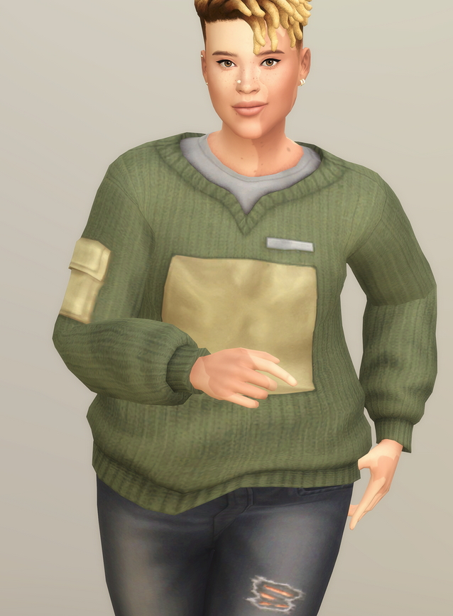 Sims 4 Basic sweater V F at Rusty Nail