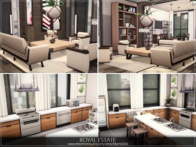 Sims 4 Royal Estate by MychQQQ at TSR