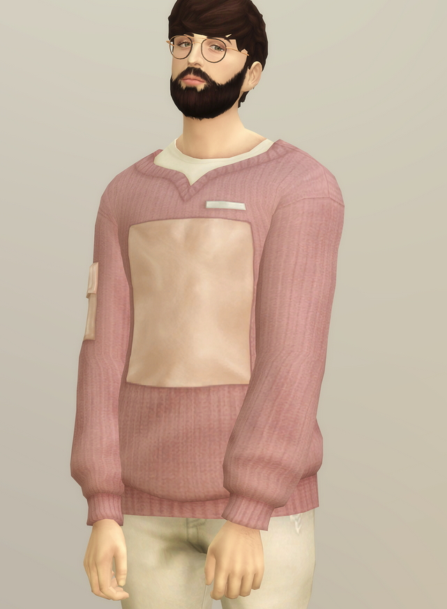 Sims 4 Basic sweater V M at Rusty Nail