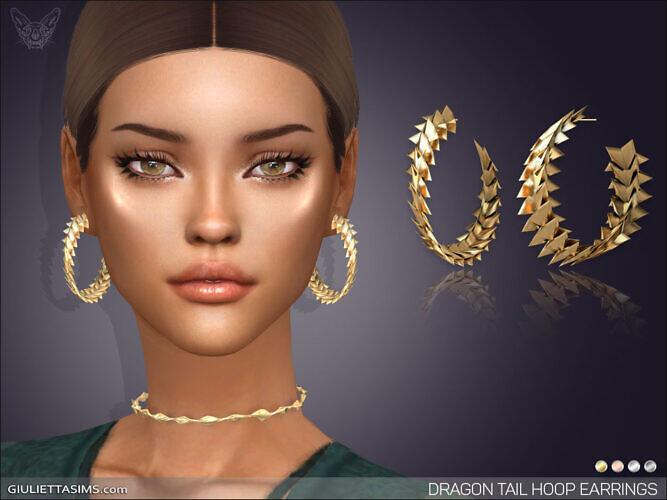 Dragon Tail Hoop Earrings