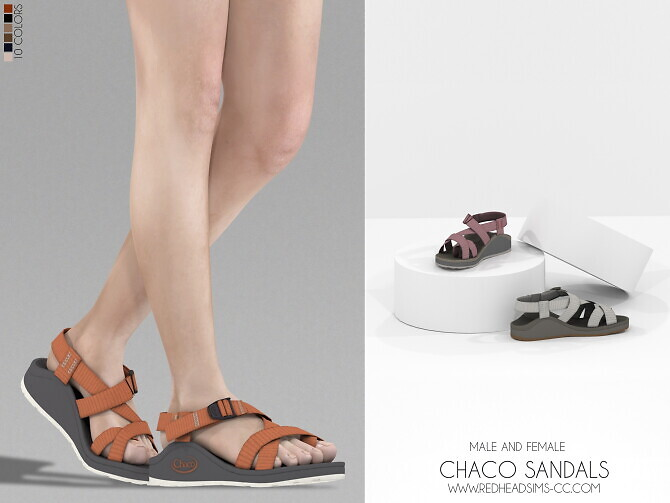 CHACO SANDALS MALE AND FEMALE at REDHEADSIMS image 2952 670x503 Sims 4 Updates
