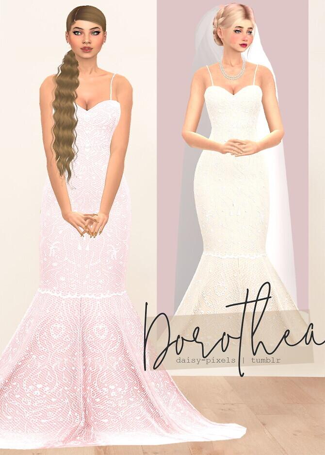Sims 4 Dorothea Dress at Daisy Pixels