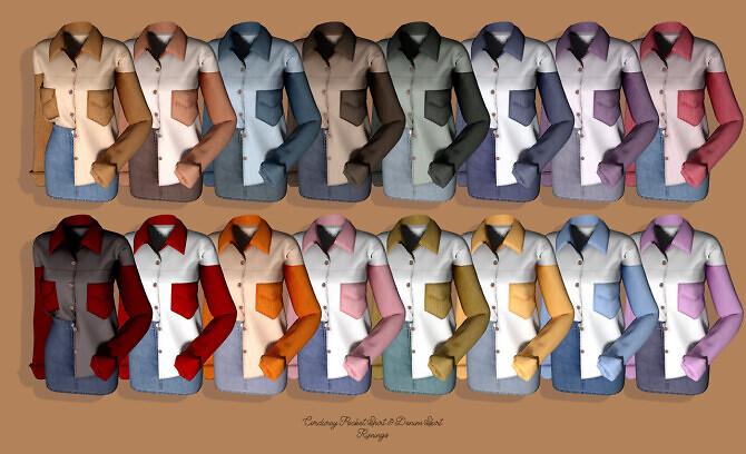 Corduroy Pocket Shirt & Denim Skirt at RIMINGs image 3032 670x408 Sims 4 Updates