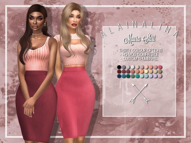 Sims 4 Maura Skirt at AlainaLina