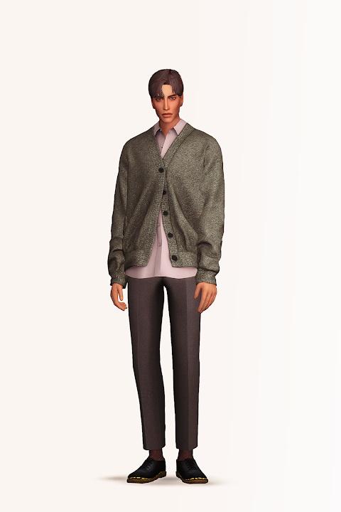 Sims 4 Cardigan & Shirt II at Gorilla