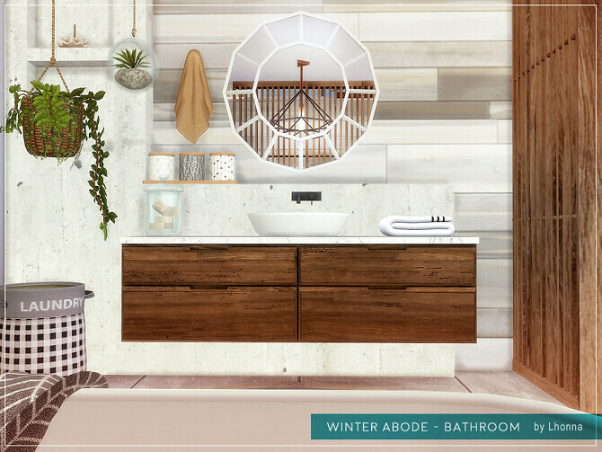Sims 4 Winter Abode Bathroom by Lhonna at TSR
