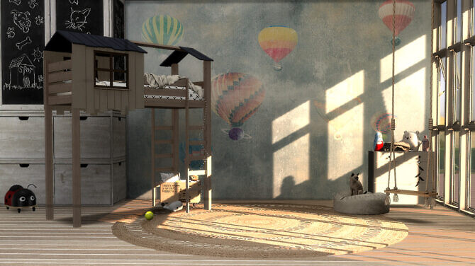 Sims 4 No Added Sugar Wall murals for little ones at Tilly Tiger
