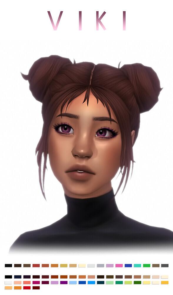Sims 4 Viki hair at Simandy