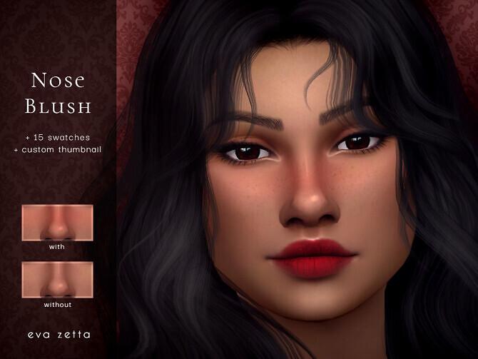 Sims 4 Nose Blush by Eva Zetta at TSR