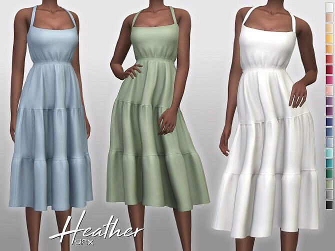 Sims 4 Heather Dress by Sifix at TSR