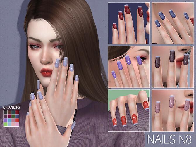 Sims 4 LMCS Nails N8 by Lisaminicatsims at TSR