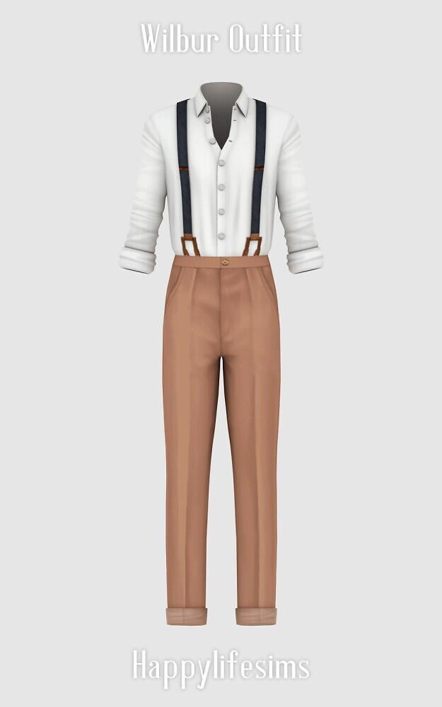 Sims 4 Wilbur Outfit at Happy Life Sims