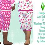 Toddler Flamingo Pyjamas Bottom By Pelineldis