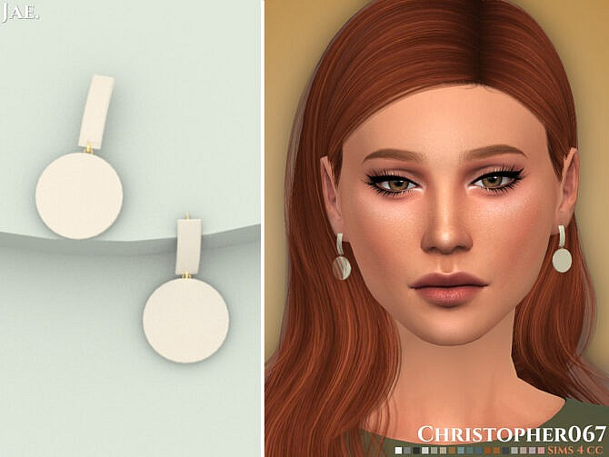 Sims 4 Jae Earrings by Christopher067 at TSR