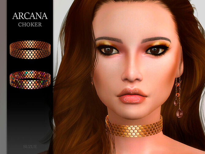 Sims 4 Arcana Choker by Suzue at TSR