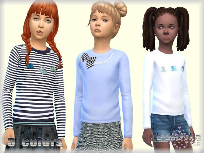 Sims 4 Shirt Girl by bukovka at TSR