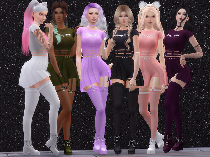 Sims 4 Baby Girl Top by Dissia at TSR