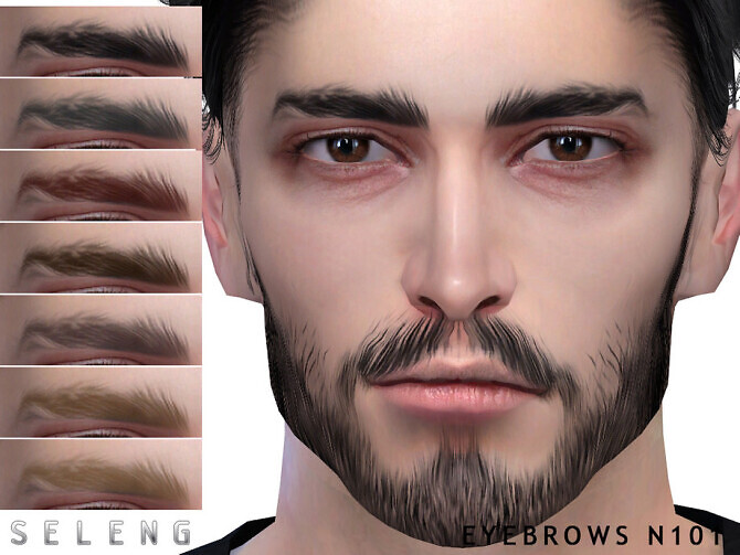 Sims 4 Eyebrows N101 by Seleng at TSR