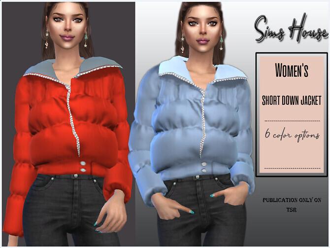 Sims 4 Short down jacket by Sims House at TSR