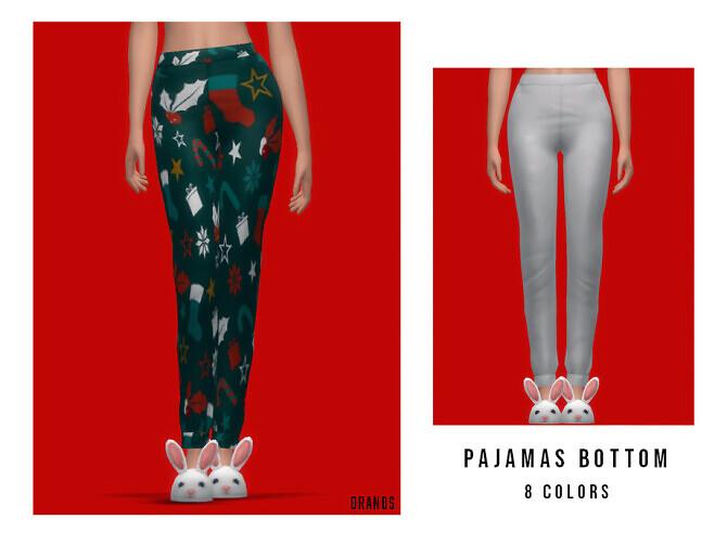 Sims 4 Pajamas pants by OranosTR at TSR