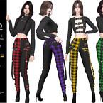 Kuko Punk Plaid Pants By Helsoseira