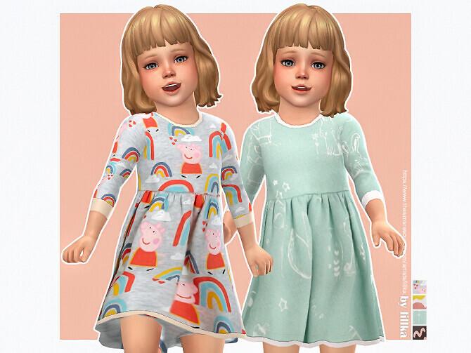 Sims 4 Polly Dress by lillka at TSR