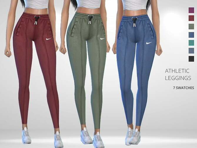 Sims 4 Athletic Leggings by Puresim at TSR