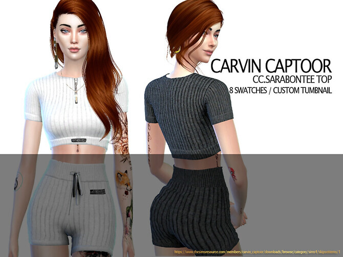 Sims 4 Sara Bontee Top by carvin captoor at TSR
