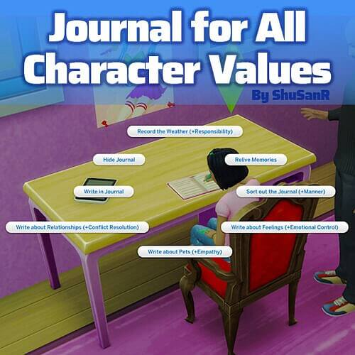 5 New Write In Journal Mod The Sims 4